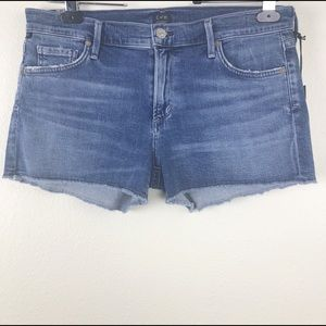 Citizen of Humanity frayed denim shorts